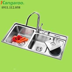 Chậu rửa inox đôi Kangaroo KG9143