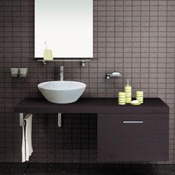 Chậu rửa Cabinet Inax CB1206-5QF-B (Màu gỗ đậm)